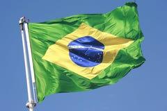 brazilian flaga Fotografia Royalty Free