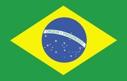 brazilian flaga Zdjęcie Stock