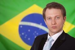 brazilian flaga mężczyzna zdjęcia royalty free