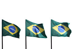 Brazilian flags Stock Photography