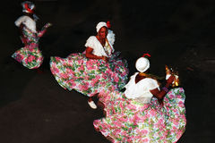 Brazilian folk dance. Tambor de Crioula in São Luis, Maranhão. The Drum-of-Creole (Tambor-de-Crioula) is a tradition of the descendants of African slaves royalty free stock image