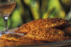 Brazilian food: pasteis. Royalty Free Stock Photography