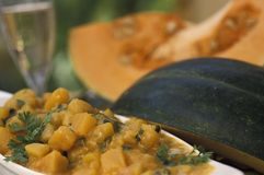 Brazilian food: Pumpkin stew (Quibebe). Stock Image