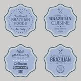 Brazilian Foods Vector Badges. Set of Brazilian Food Badges. Vector illustration Stock Images
