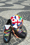 Brazilian Football Boots International Soccer Ball Royalty Free Stock Photo