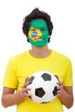 Brazilian football fan Stock Photos