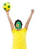 Brazilian football fan Royalty Free Stock Images