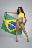 Brazilian football fan Stock Image