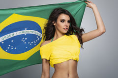 Brazilian football fan Stock Photo