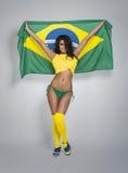 Brazilian football fan Royalty Free Stock Image