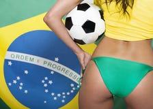 Brazilian football fan Stock Photography