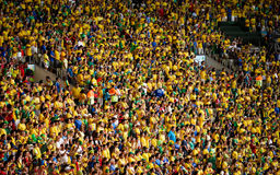 Brazilian football fans Royalty Free Stock Images