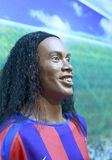 Brazilian football player ronaldinho's wax figure Royalty Free Stock Image