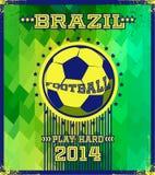 Brazilian football poster. Royalty Free Stock Photo