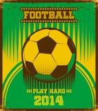Brazilian football poster. Royalty Free Stock Image