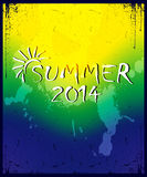 Brazilian football poster. Summer 2014. Colorful background poster  with text Royalty Free Stock Photos