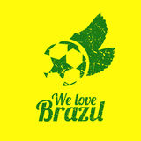 Brazilian football retro grunge poster,  Royalty Free Stock Photography