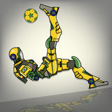 Brazilian Football Robot. The Brazilian Football Robot Illustration Stock Photography