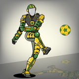 Brazilian Football Robot. The Brazilian Football Robot Illustration Stock Image