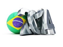 Brazilian football 2014. On a white background Stock Images