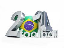 Brazilian football 2014 Stock Photo