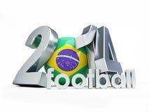 Brazilian football 2014. On a white background Stock Photo