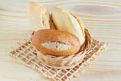 Brazilian french bread, baguette mini with sesame, integral  in Royalty Free Stock Images