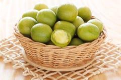 Brazilian fresh fruit Spondias tuberosa (Brazil plum, umbu, imbu Royalty Free Stock Photography