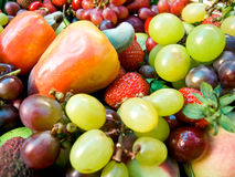 Brazilian fresh tropical fruits Stock Photos