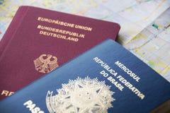 Brazilian and German passport Royalty Free Stock Photography