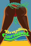Brazilian girl at a carnival party. Royalty Free Stock Images