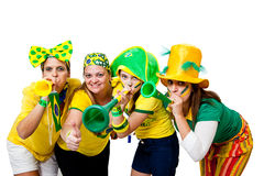 Brazilian girls celebrating Royalty Free Stock Photo