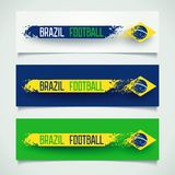 Brazilian grunge banners Royalty Free Stock Photo