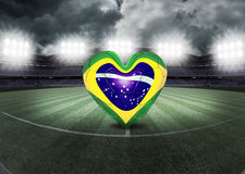 Brazilian heart field Stock Photography