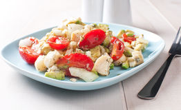 Brazilian hearts of palm salad with tomatoes Stock Images