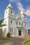 Brazilian historical building. Catholic church of the central square of the city of Montes Claros, Minas Gerais, Brazil Royalty Free Stock Images