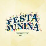 Brazilian holiday festa junina celebration party background. Vector Stock Image