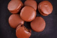 Brazilian honey cookie pao de mel. On wooden background. Selective focus Stock Images