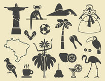 Brazilian icons Royalty Free Stock Photo