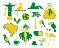 Brazilian icons. Vector illustration Royalty Free Stock Image
