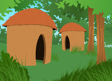 Brazilian Indian House Vector Illustration Royalty Free Stock Photography