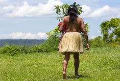 Brazilian indian woman from tribe in Amazon, Brazil Stock Photography