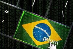 Brazilian Internet  space concept Stock Image
