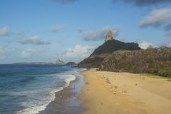 Brazilian Island Beach. Cacimba do Padre Beach in Fernando de Noronha Island, Brazil Stock Photo
