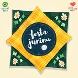 Brazilian June Party flag logo Royalty Free Stock Image