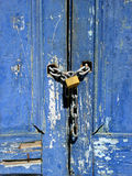 Brazilian Locked Door. Chained and Padlocked Old Door Stock Photography