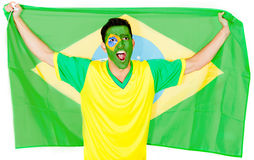 Brazilian man celebrating Stock Image