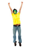 Brazilian man with the flag Royalty Free Stock Photos