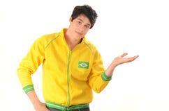 Brazilian man presenting. Stock Images