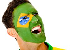Brazilian man shouting Royalty Free Stock Photography